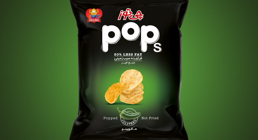 pops potato chips پاپس